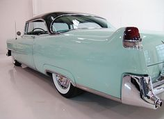 A Turquoise Classic 50's Car