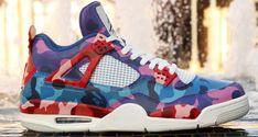 "Air Jordan 4 ""BAPE Multicolor Camo"" Custom by Ammoskunk"