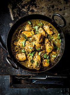 Indian garlic and black pepper chicken curry Don't forget to come and see us at http://bakedcomfortfood.com!