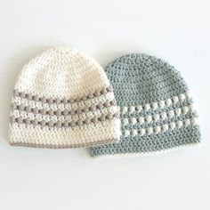 Dabbles & Babbles new Puff Stitch Crochet Baby Hat is so adorable. It's a really simple design that any new mom would love. It uses the crochet puff stitch to create texture and is made with tw… Easy Crochet Baby Hat, Crochet Diy, Baby Blanket Crochet, Crochet Hats, Dishcloth Crochet, Scarf Crochet, Crochet Ideas, Knitted Hats, Pattern Baby