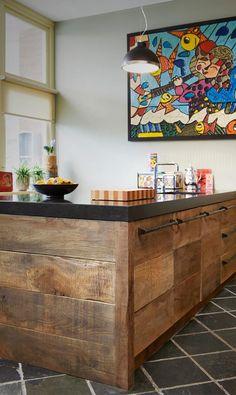 Sloophouten keuken oud eiken Restyle XL #keukens #spoeleiland #quooker