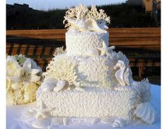 Beach-Themed Cakes   Great Cakes - Outer Banks Wedding Cakes