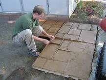 DIY Concrete Walkway Molds - Bing Images