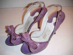 1940s pin up girl sling back CARMELETTES Lavender purple by