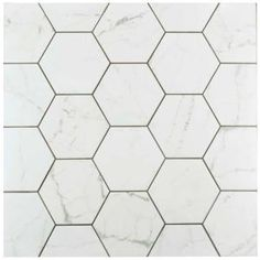 Merola Tile Carrara Hexagon 7 in. x 8 in. Porcelain Floor and Wall Tile (11 sq. ft. / case) FEQCRX at The Home Depot - Mobile