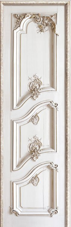 French Trompe loeil wallpaper by Christophe Koziel - Left panelled door