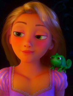 """Rapunzel and Pascal // """"Now, I-I know I can't ask about the hair,"""" """"Nope!""""  """"Or the mother,"""" """"Uh-uh.""""  """"And quite frankly, I'm too scared to ask about the frog-"""" """"Chameleon.""""  """"Nuance."""""""