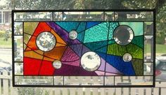 Embraced BY Color Stained Glass Window