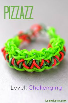 How to Make the Pizzazz Rainbow Loom Bracelet. http://www.mastermindtoys.com/Rainbow-Loom-and-Related-Products.aspx