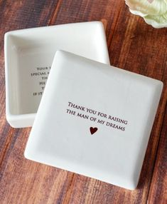 Wedding Gifts For Parrents Unique Mother of the Groom Gift or Birthday Gift - SHIPS FAST - Thank you for raising the man of my dreams - Square Keepsake Box - With Gift Box Cute Wedding Ideas, Wedding Goals, Gifts For Wedding Party, Wedding Wishes, Wedding Trends, Perfect Wedding, Our Wedding, Wedding Planning, Dream Wedding