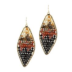 Nakamol Large Diamond Shaped Web Bead Earrings #VonMaur #Nakamol #Earrings #Beads