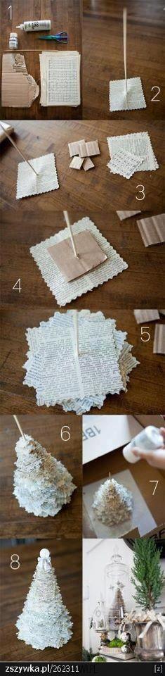 papírový stromek