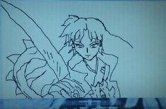 Unfinished Naraku XD (Inuyasha) drawn on the program paint by Rayne Brazil (Gonzales)