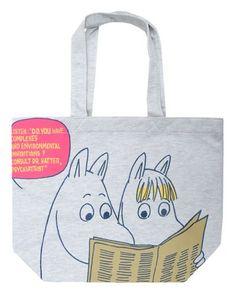 ムーミン スウェットトートバッグ シンブン Moomin Valley, Tove Jansson, Handmade Paint, Purses And Bags, Shopping Bag, Reusable Tote Bags, My Love, Peanuts, Clothes
