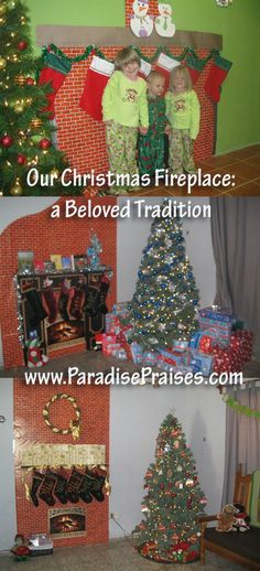 Christmas Traditions - www.ParadisePraises.com - This is actually a good idea for those of us that don't have a fire place. =))