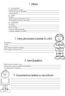 .::Un mundo de pequeñas cosas::.: 90.- Ficha evaluación inicial Educación Infantil 3 años