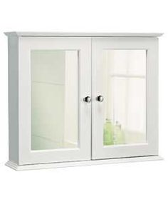 Buy Double Door Mirrored Bathroom Cabinet - White at Argos.co.uk - Your Online Shop for Bathroom cabinets.