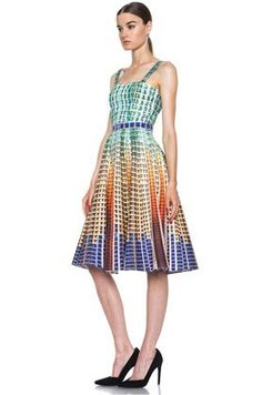 50 Dream Party Dresses SUDDENLY PRINTED COTTON DRESS IN SUDDENLY, $1,888, MARY KATRANTZOU, FORWARDFORWARD.COM