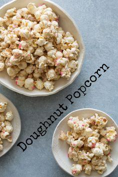 Doughnut Popcorn via @SpoonForkBacon