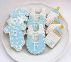 Las Cookies de la ducha del bebé  Alimentos de la ducha del