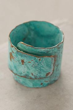 Wrapped Turquoise Ring - anthropologie.com  I love bold and adjustable rings like this one. Nice color.