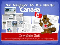 Learn about our neighbor to the north! Includes a fantastic complex text to use when teaching social studies. This is a complete . 4th Grade Social Studies, Teaching Social Studies, Teaching Resources, World Geography, Pre And Post, Student Reading, Textbook, Lesson Plans, Canada