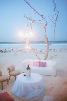 Reception on the beach