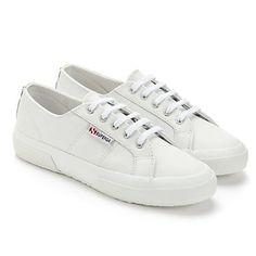White Leather Superga Plimsole | The White Company