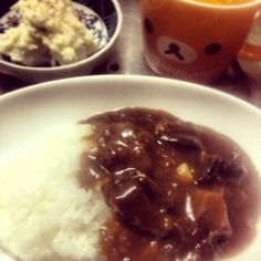 コーヒーと柚子こしょう( ̄▽ ̄) - 9件のもぐもぐ - すじこんカレー&ポテトサラダ by shimochan