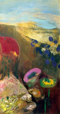 Odilon Redon, Strange Flowers (Fleurs étranges) on ArtStack Gustav Klimt, Art Floral, Carl Spitzweg, Odilon Redon, Strange Flowers, Art Et Illustration, Inspiration Art, Art Abstrait, True Art