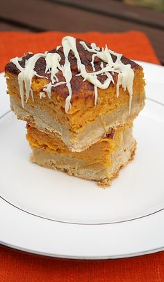 This Pumpkin Pie Snickerdoodle Bar recipe is delicious. The bottom layer is like a blondie brownie and then covered by a layer of pumpkin pie filling. Sprinkled with a cinnamon sugar on top and baked into a delicious bar with white chocolate on top.  But the bar is even better the day after.  Great recipe for those that want something different to pumpkin pie.