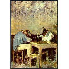 """Two Drunks"" by Nicolae Grigorescu Print"
