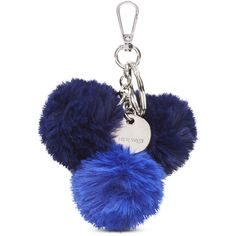 Nine West Pom Pom Bag Charm ($18) ❤ liked on Polyvore featuring accessories, blue multi, nine west and pom pom key rings
