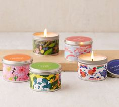 Candles that come in incredibly beautiful tins.