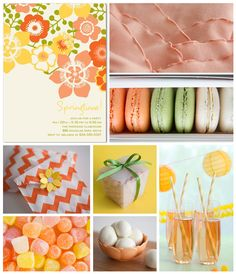 I love this color palette and flower graphic. Reminds me of the very 60's-70's wallpaper my grandma had in her kitchen!