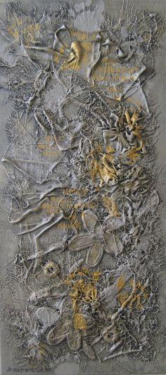 'HOLLY MAREE' – 30cm x 45cm – mixed media – textiles, acrylics & textile paint on canvas Jennifer Gaye
