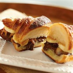 Treat your holiday guests to an easy-to-make rich and decadent Banana Chocolate Hazelnut Breakfast Panini