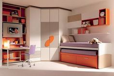 Bed Design For Kids With Study Table images