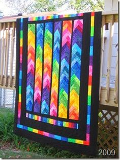 castle peeps new wave done!   Fabrics, Patchwork and Rainbow quilt : bright colored quilts - Adamdwight.com