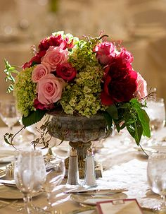 Gorgeous blooms in an urn - love