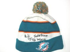 AJ Francis Sideline Worn   Signed Authentic Miami Dolphins On Field New Era  Beanie Hat 08ecb306cb90