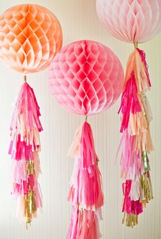 10 Festive Ideas for Decorating with Honeycomb Balls