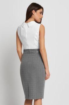 Puzdrové šaty so sukňou s károvaným vzorom   ORSAY