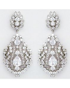 Perfect Details Statement CZ Chandelier Earrings - The Knot