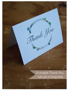 | Thank You card pack via BEtimeless |