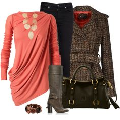 Coral Top, created by daiscat on Polyvore