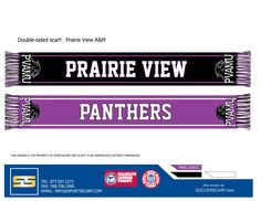 Prairie View A University custom sports scarf!  Create your own today at www.SportsScarf.com!
