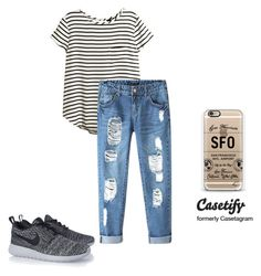 """""""#casetify"""" by aminaa97 ❤ liked on Polyvore featuring H&M, Chicnova Fashion, Casetify and NIKE"""