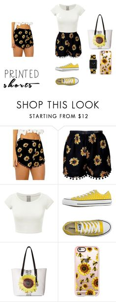 """Prints Charming: A Shorts Story Contest"" by sibleyaaron ❤ liked on Polyvore featuring Converse, Carlos by Carlos Santana, Casetify and printedshorts"