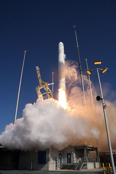 Orbital Sciences Corporation launched its Antares rocket.  Launchpad Photos by NASA Goddard Photo and Video, via Flickr